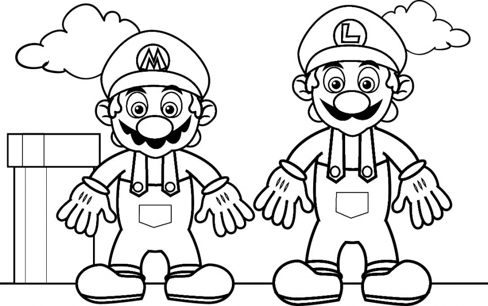 Get This Mario Brothers coloring Pages 94516 !