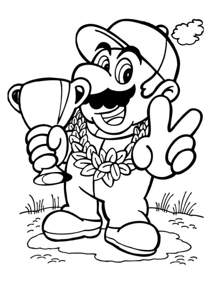 online mario coloring pages - photo#6