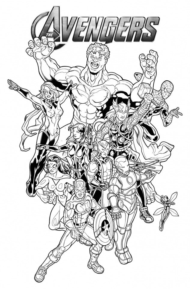 marvel avengers coloring pages 5hwm2 - Avengers Coloring Page
