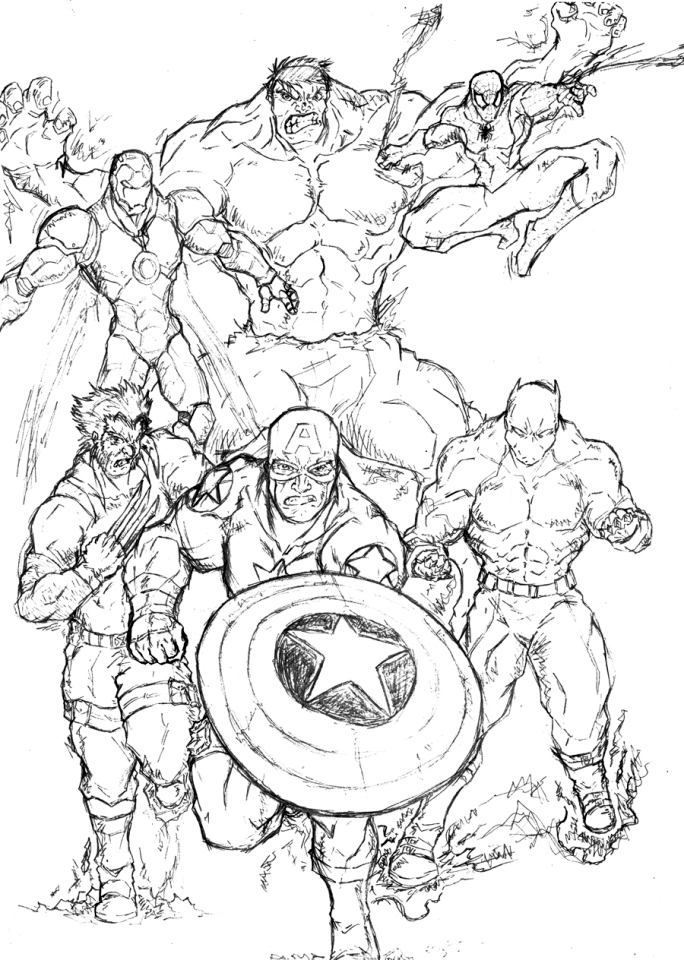 marvel avengers coloring pages 74nd9