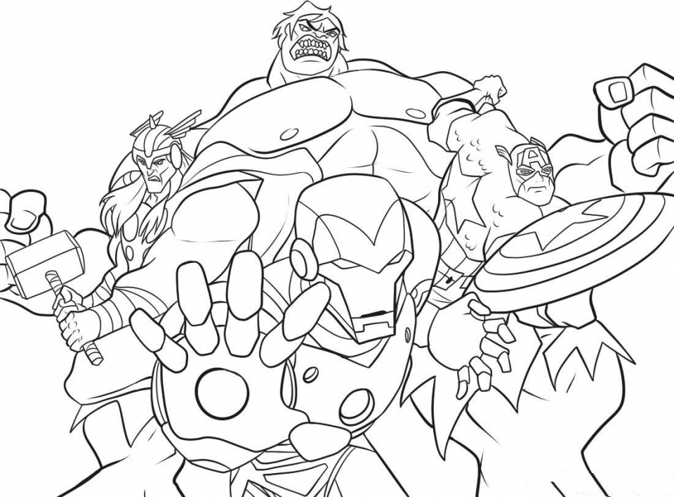 Get This marvel avengers coloring