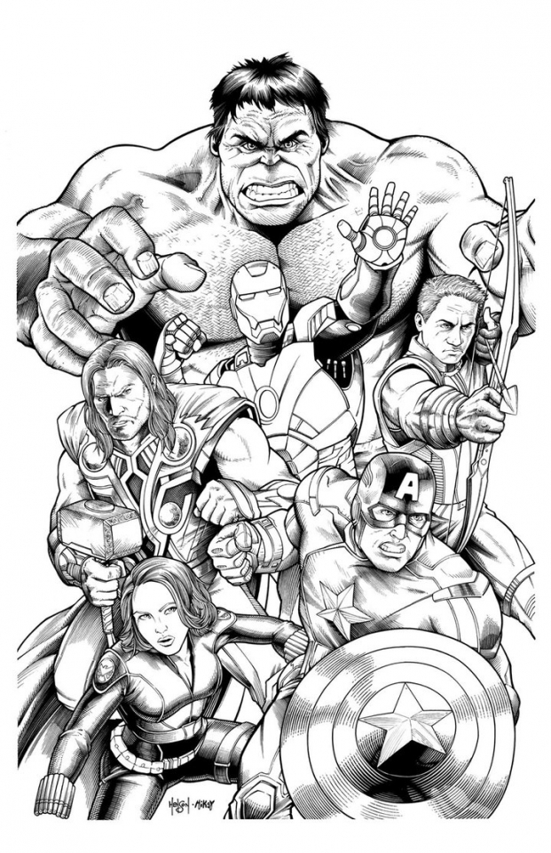 20+ Free Printable Marvel Coloring Pages ...