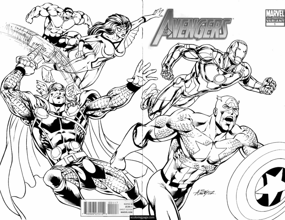marvel avengers coloring pages ywma1