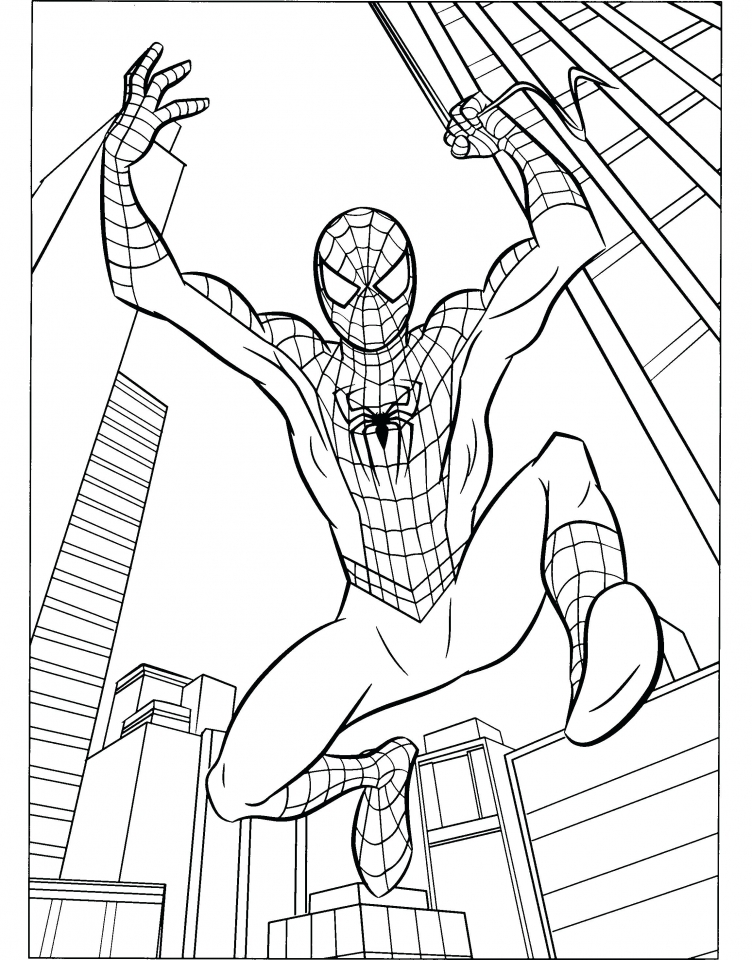 Good Marvel Coloring Pages Spiderman 05619