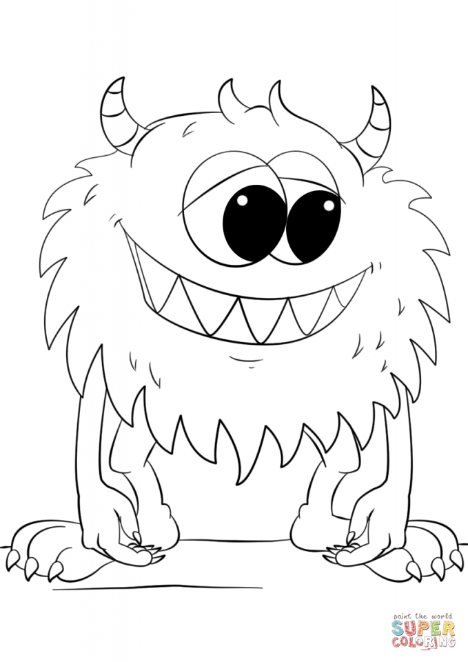 monster outline coloring pages - photo#17