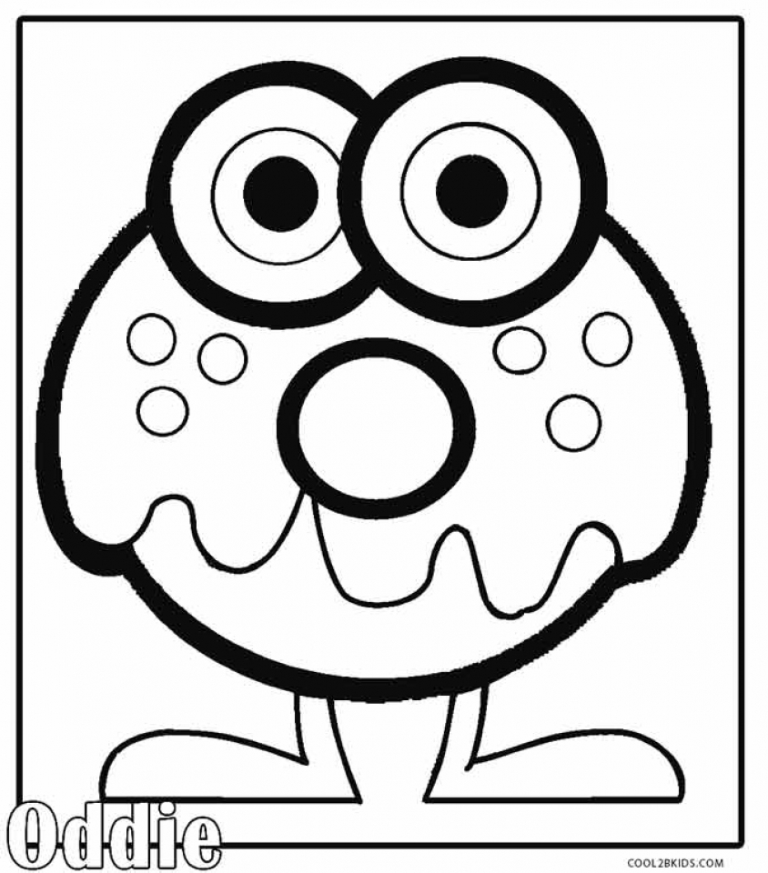 Get This Monster Coloring Pages Free uab4m !