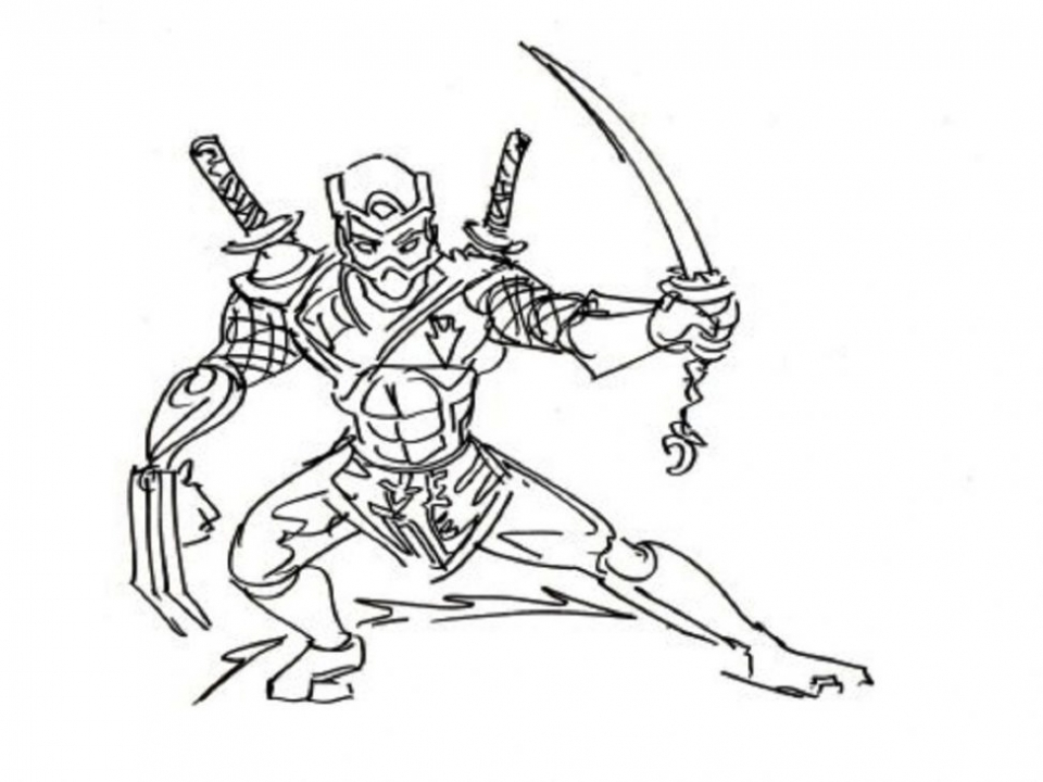 Get This Ninja Coloring Pages Free r216a !