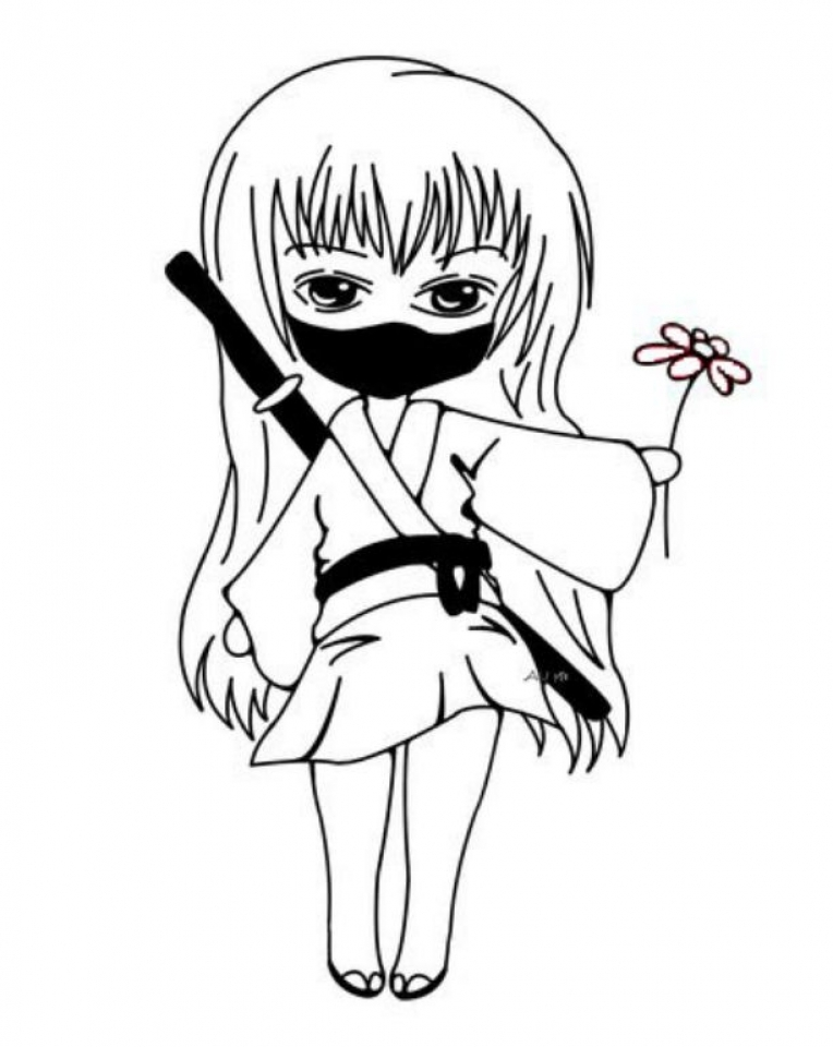 ninja coloring pages free uw4n9 - Ninja Coloring Page