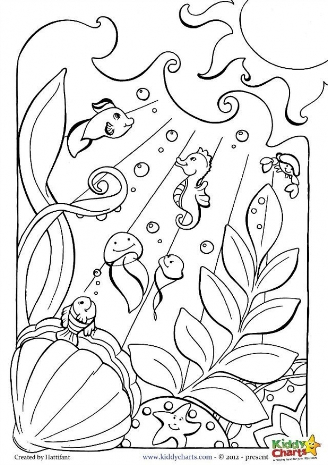 coloring pages of the ocean - photo#15