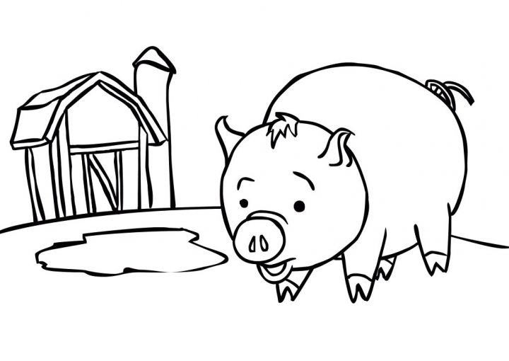 Get This Pig Coloring Pages for Kids 16486 !