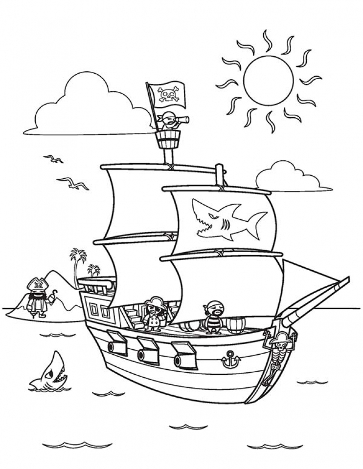 Get This Pirate Ship Coloring Pages 6a731 Pirate Ship Coloring Page