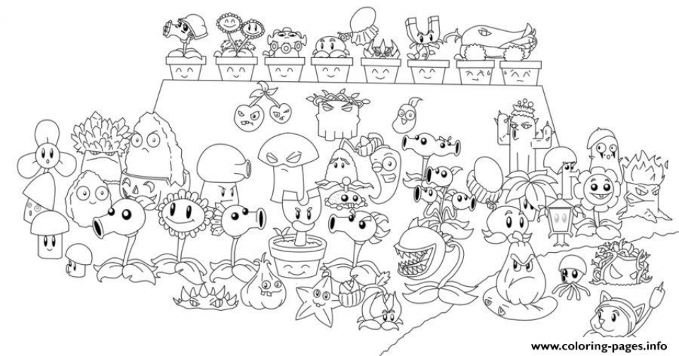 Plants Vs Zombies Coloring Pages Free For Kids At186