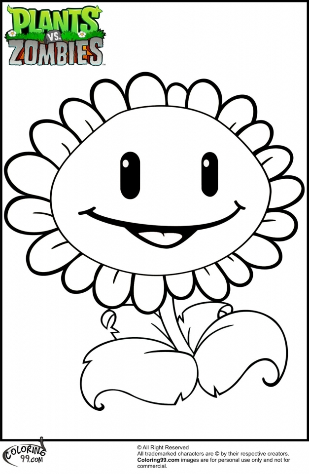 plants vs zombies coloring pages free y5712