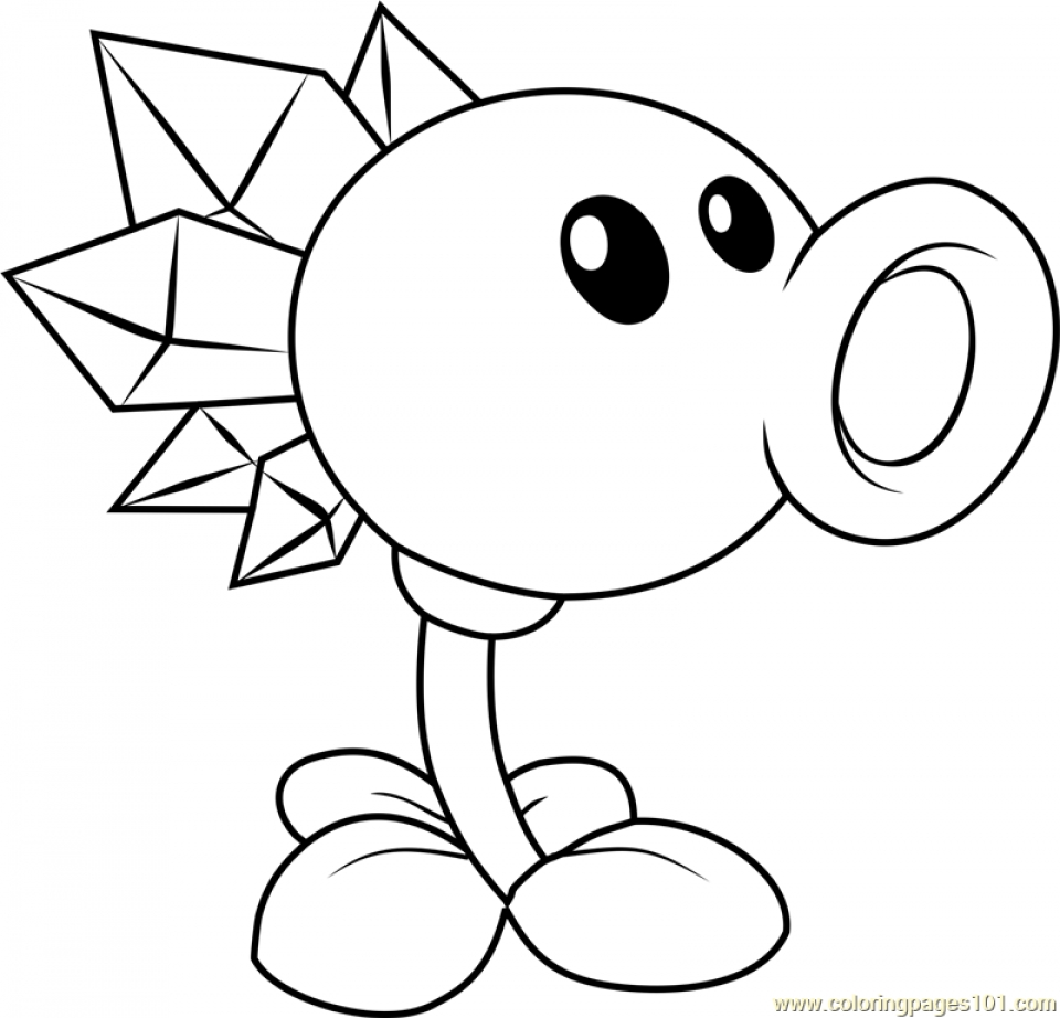 Plants Vs Zombies 2 Threepeater Coloring Pages Plants