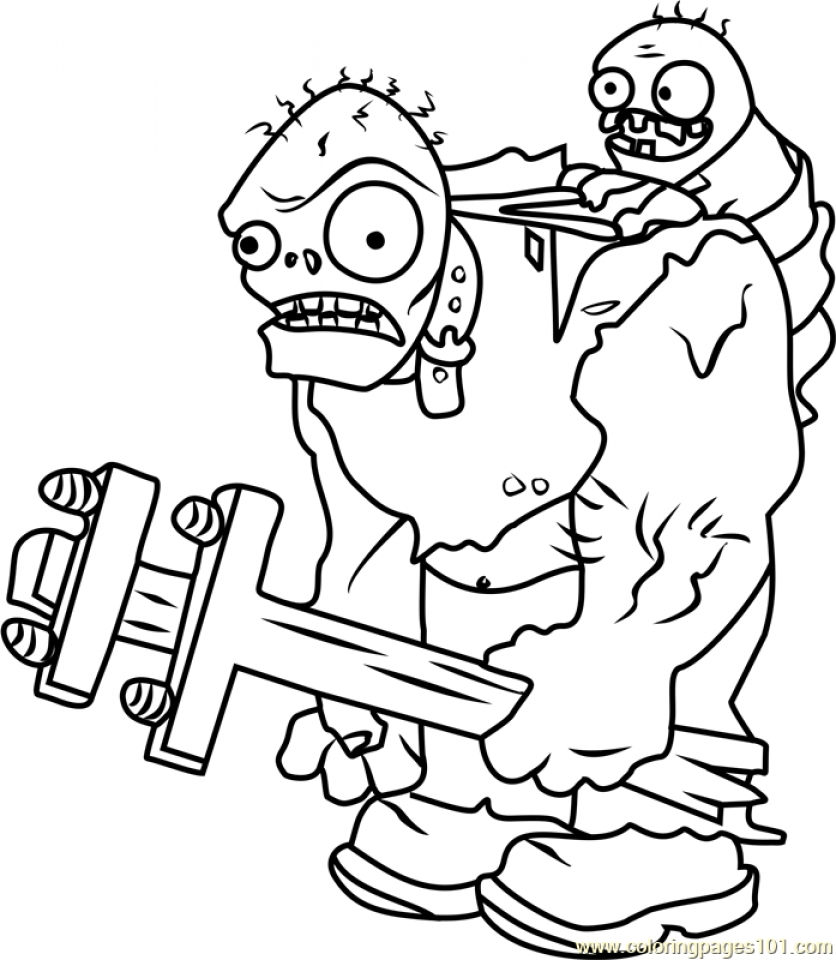 Get This Plants Vs. Zombies Coloring Pages Fun Printables ...