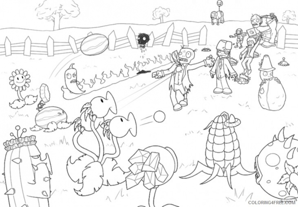 - Get This Plants Vs. Zombies Coloring Pages To Print For Kids 76182 !
