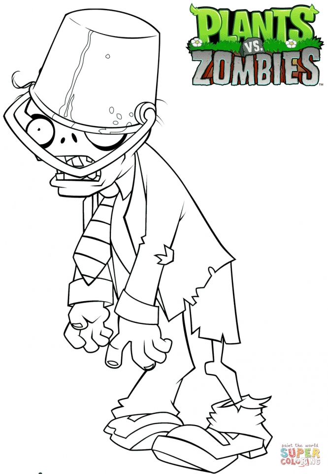 plants vs zombies coloring pages to print pym89 - Coloring Page Zombie