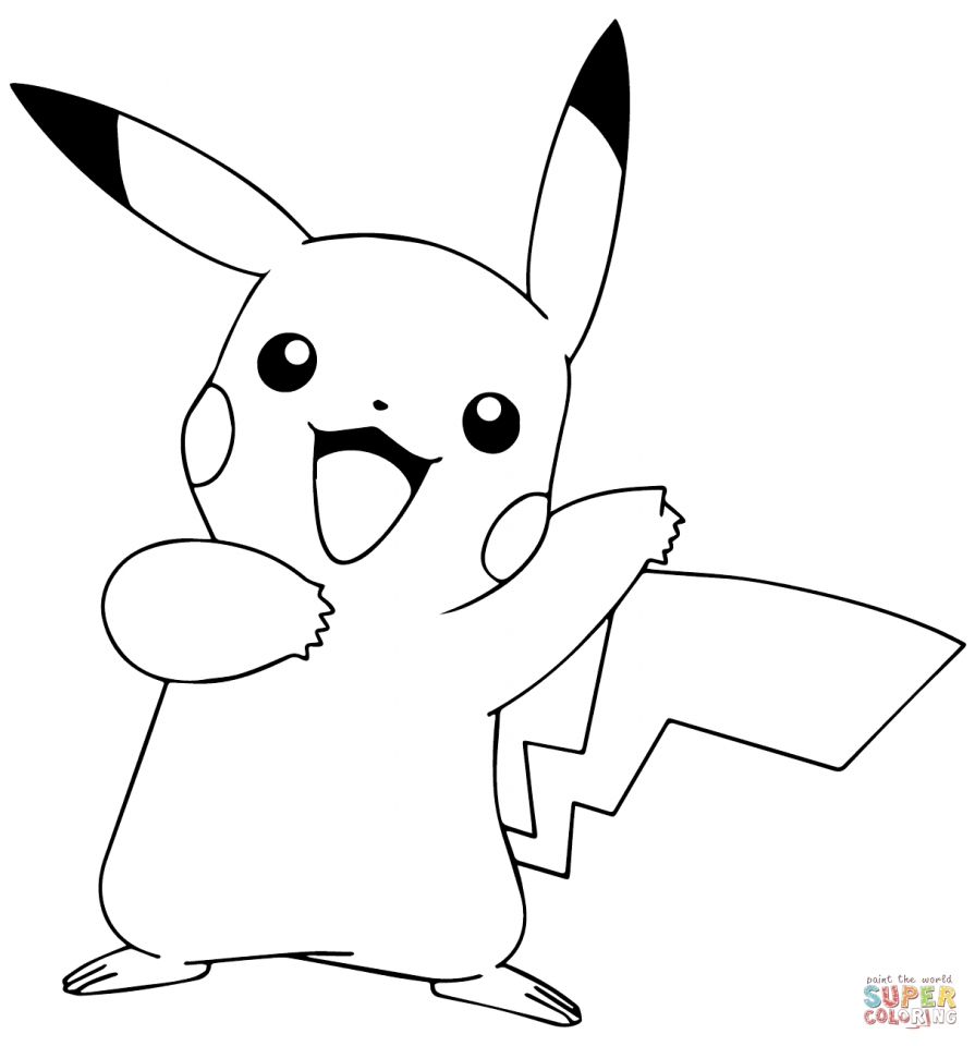 Get This Pokemon Pikachu Coloring