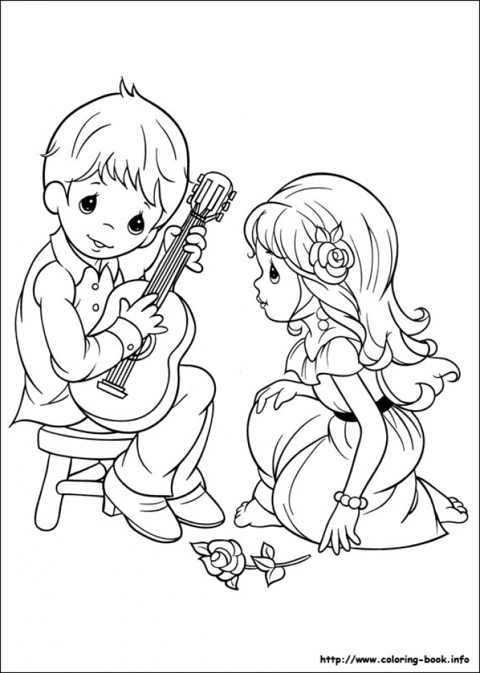 get this precious moments boy and girl coloring pages 9yfg3