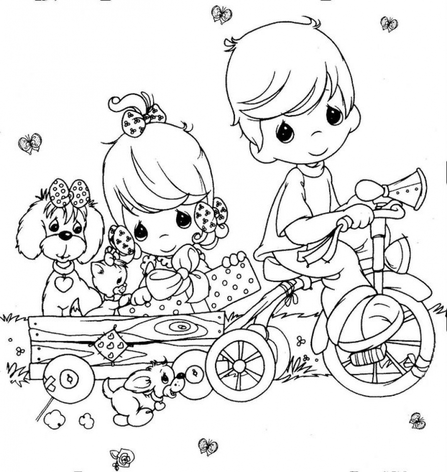 Precious Moments Coloring Pages Free For Toddlers 6dh4a