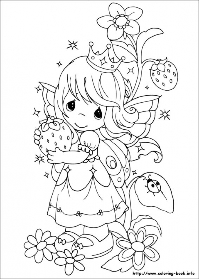 - Get This Precious Moments Fairy Coloring Pages 7xb49 !