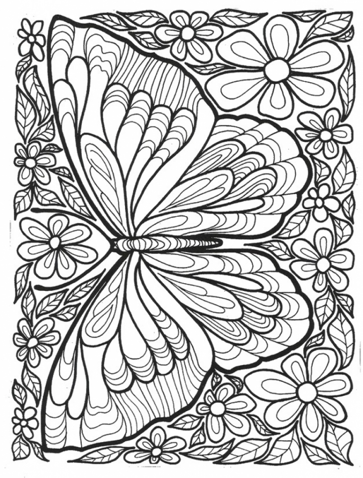 Get This Printable Butterfly Coloring Pages For Adults 15637