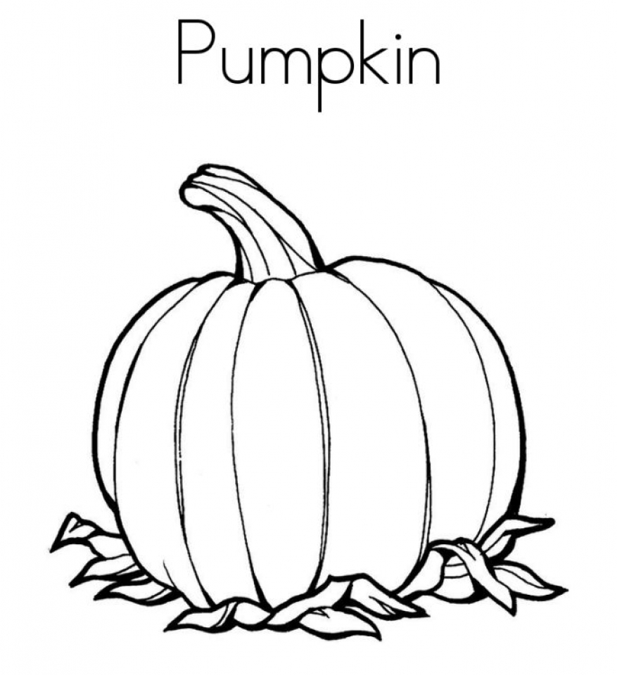 20 Free Printable Pumpkin Coloring Pages Everfreecoloring Com