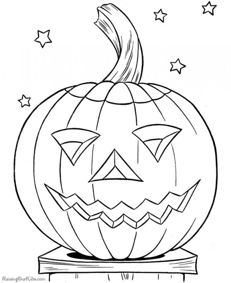 Get This Scary Pumpkin Coloring Pages for Halloween 88310 !