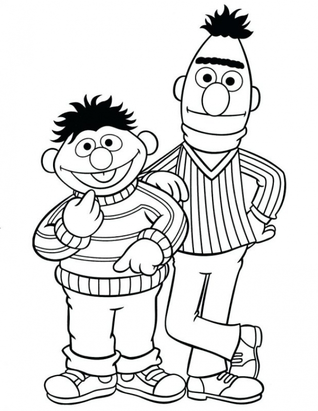 sesame street coloring pages - Printing Coloring Books