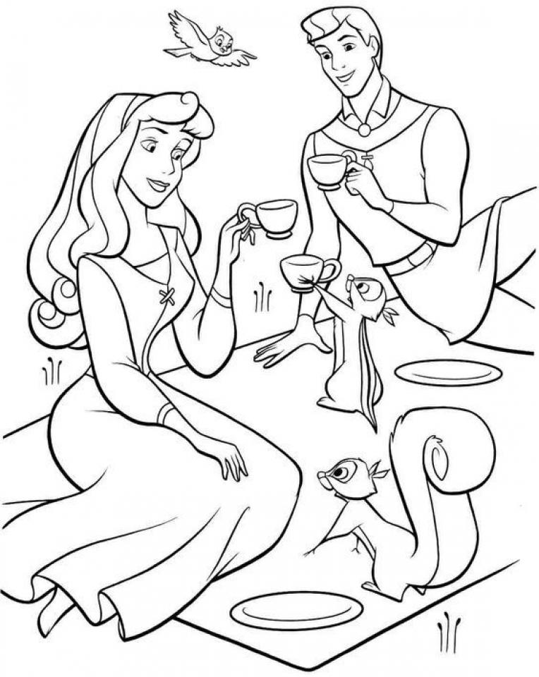 Sleeping Beauty Coloring Pages Disney Princess   2twabl