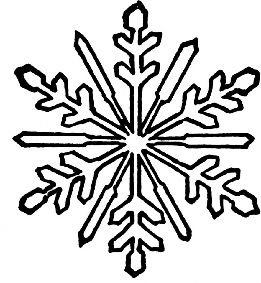 Get This Snowflake Coloring Pages for Kindergarten 31675