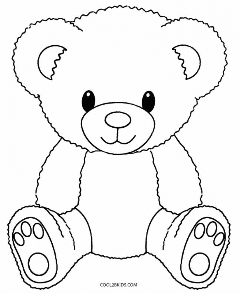 Get This Teddy Bear Coloring Pages Free 716bd