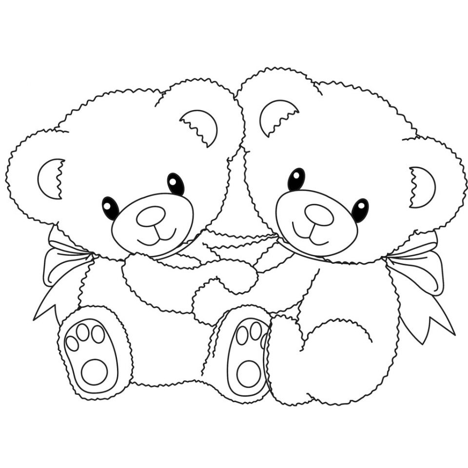 Get This Teddy Bear Coloring Pages Kids Printable 748aj !