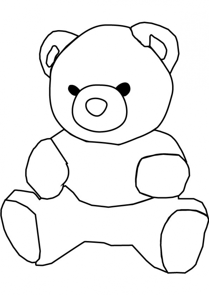 Get this teddy bear coloring pages to print 716ag for Free bear coloring pages