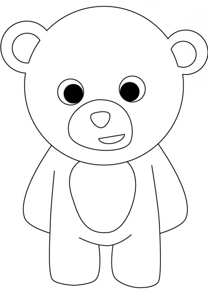 Get this teddy bear coloring pages to print bfgz4 for Free bear coloring pages