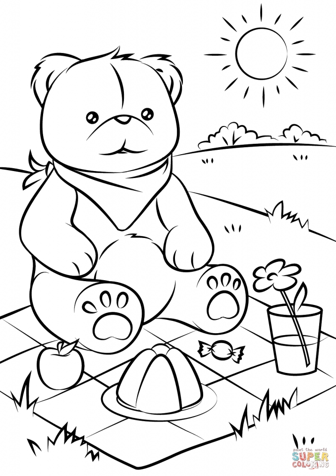 Get This teddy bear picnic coloring pages 7fhal !