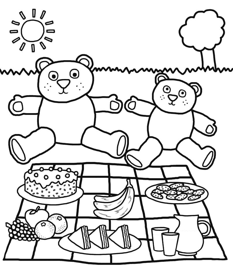 Get this teddy bear picnic coloring pages auyr2 for Teddy coloring pages