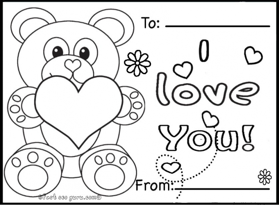 Get This teddy bear with heart coloring pages 7ah31 !