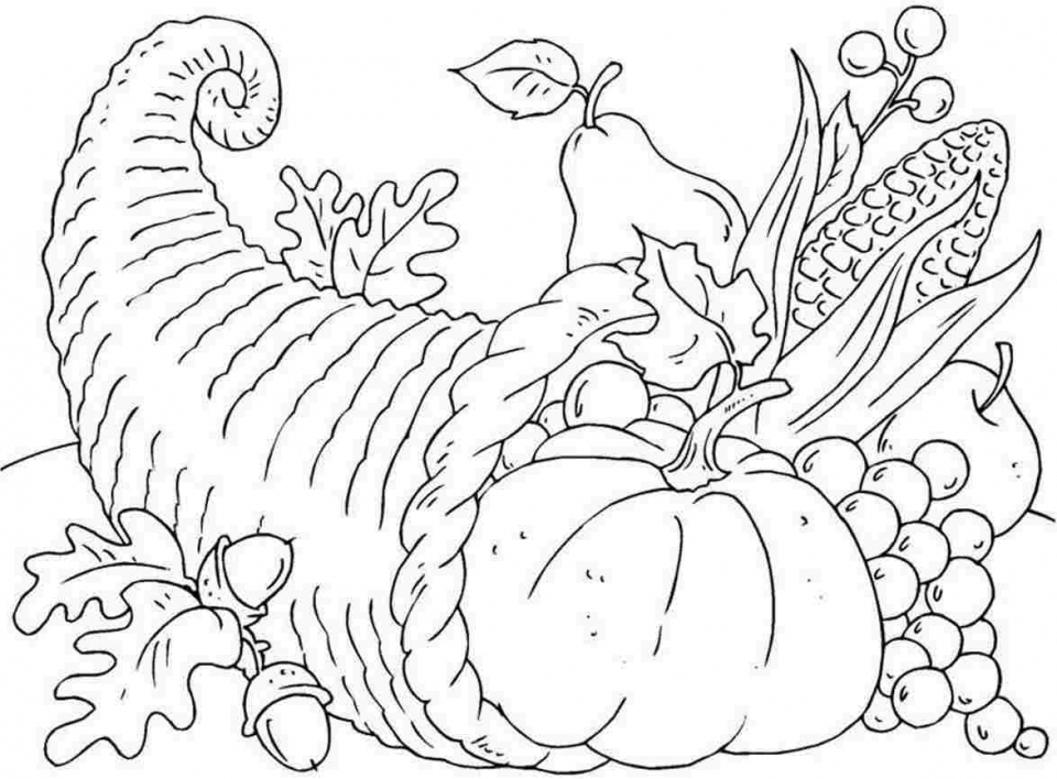 thanksgiving coloring pages free to print 31562