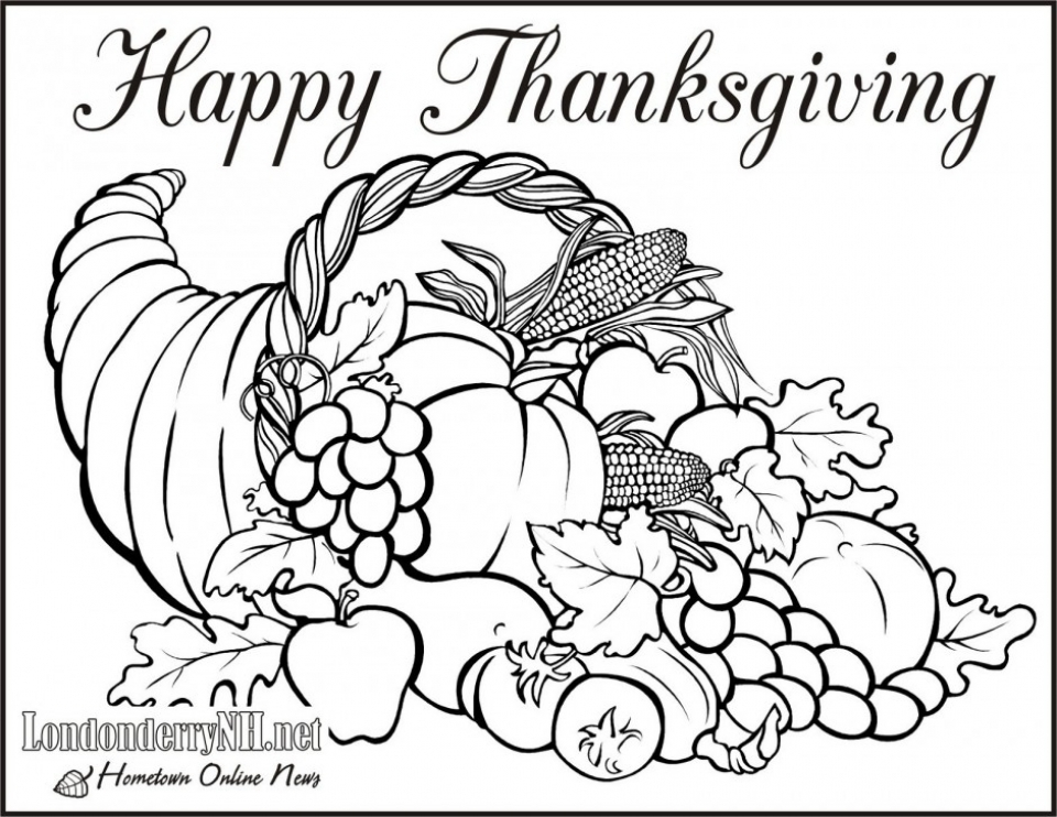 Get This Thanksgiving Coloring Pages to Print 77401 !