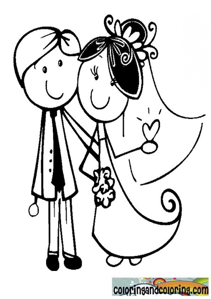 Get this printable baby animal coloring pages online 64038 for Wedding coloring pages to print