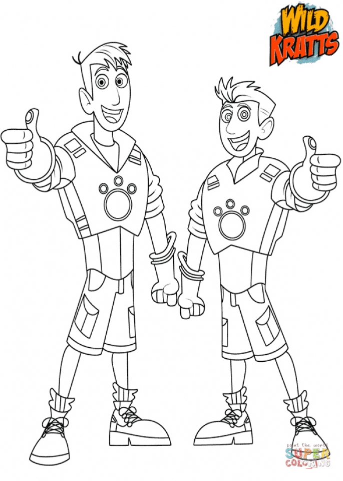 Get This Wild Kratts Coloring Pages Online 15ht0