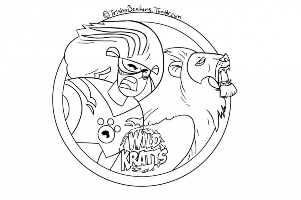 Get This Wild Kratts Coloring Pages Online t415s