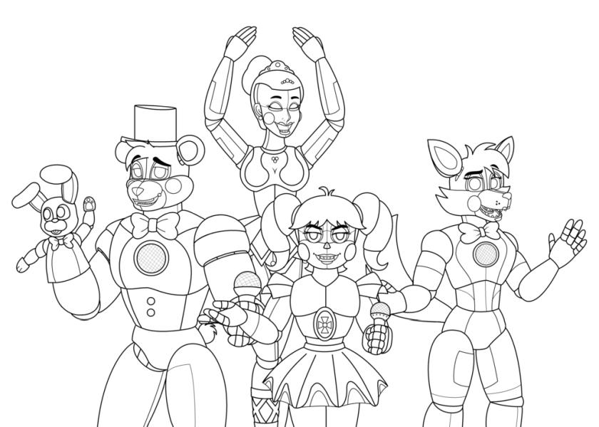 - Get This Five Nights At Freddys Coloring Pages Op97 !