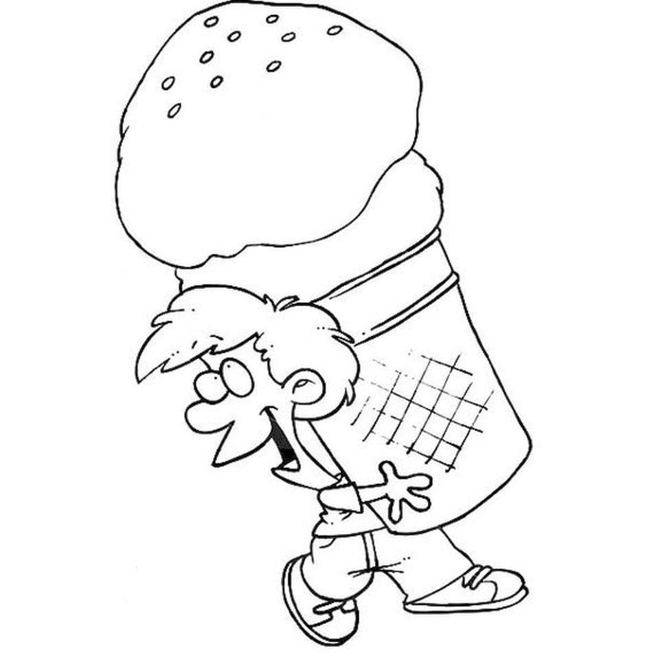 Ice Cream Coloring Pages Free Printable 294o