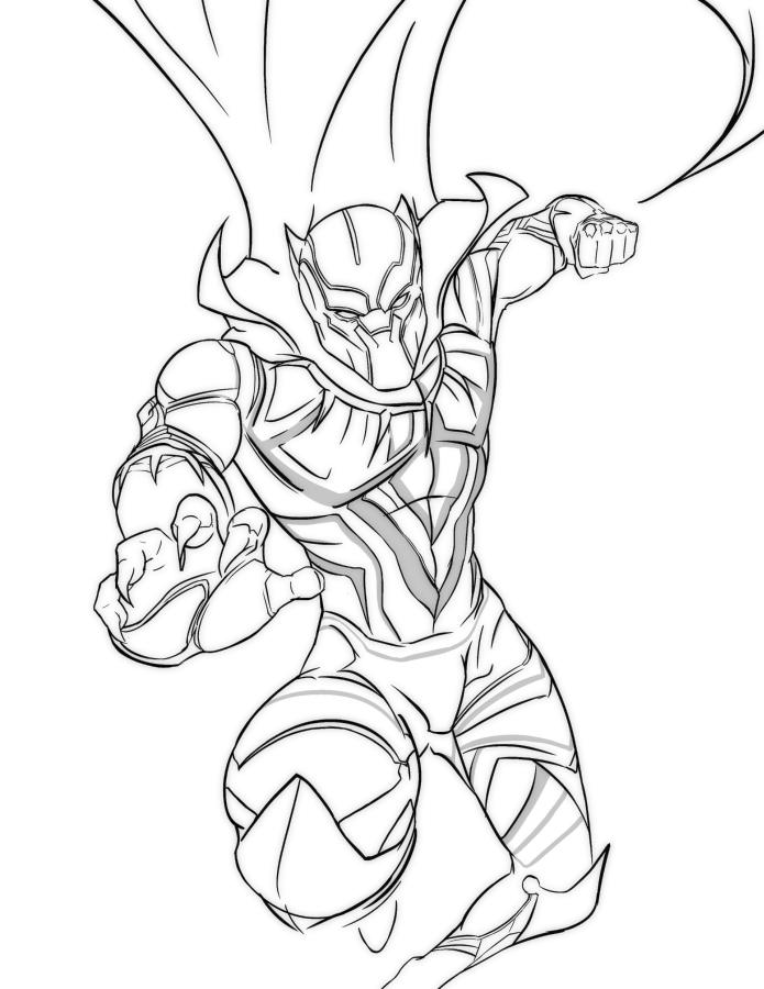 Coloring pages: Coloring pages: Black Panther, printable for kids ... | 900x695