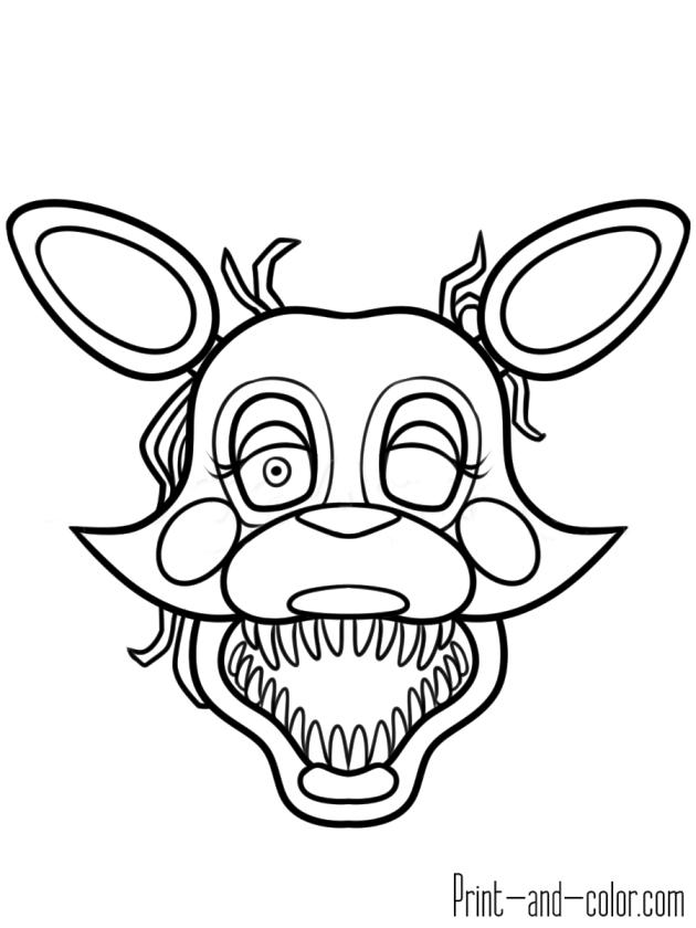 fnaf coloring pages for kids hp83