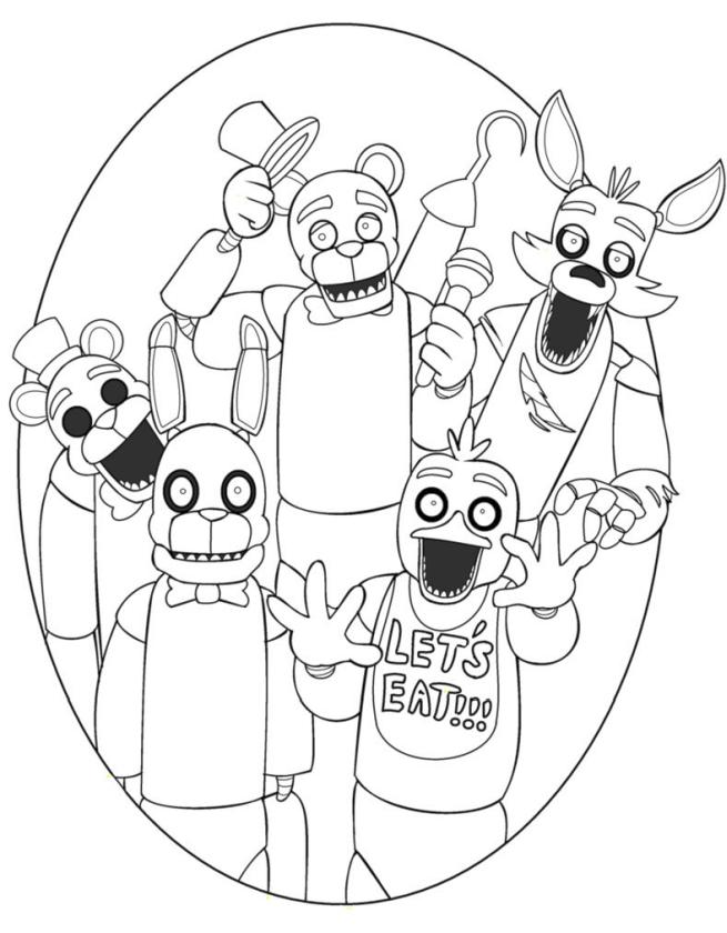Nightmare Freddy coloring page | Free Printable Coloring Pages | 840x655