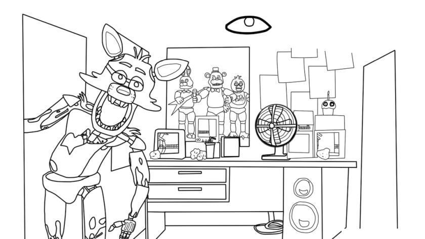 Get This fnaf coloring pages to print no50