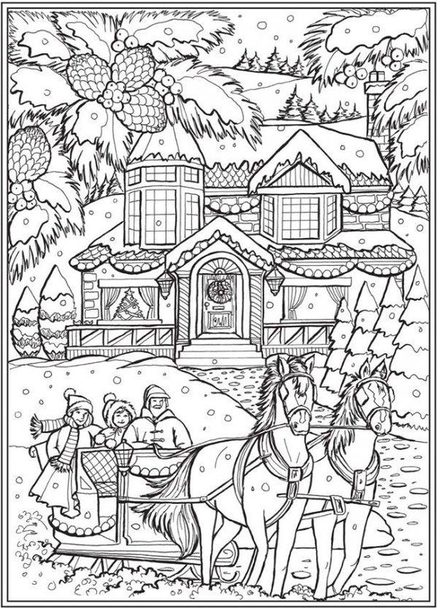 Get This Adult Christmas Coloring Pages Free Sled and ...